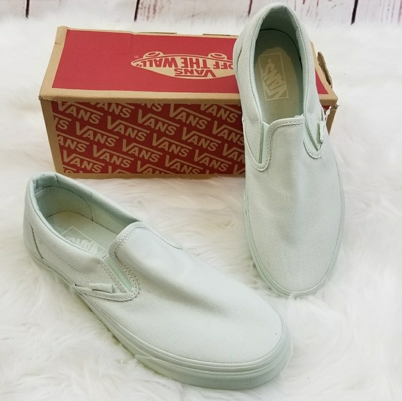 Vans classic Slip On Milky Green Canvas db64e0f41